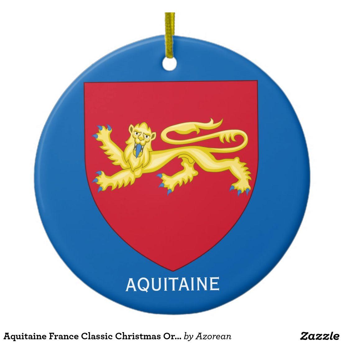 Aquitaine France Classic Christmas Ornament | Zazzle.com ...