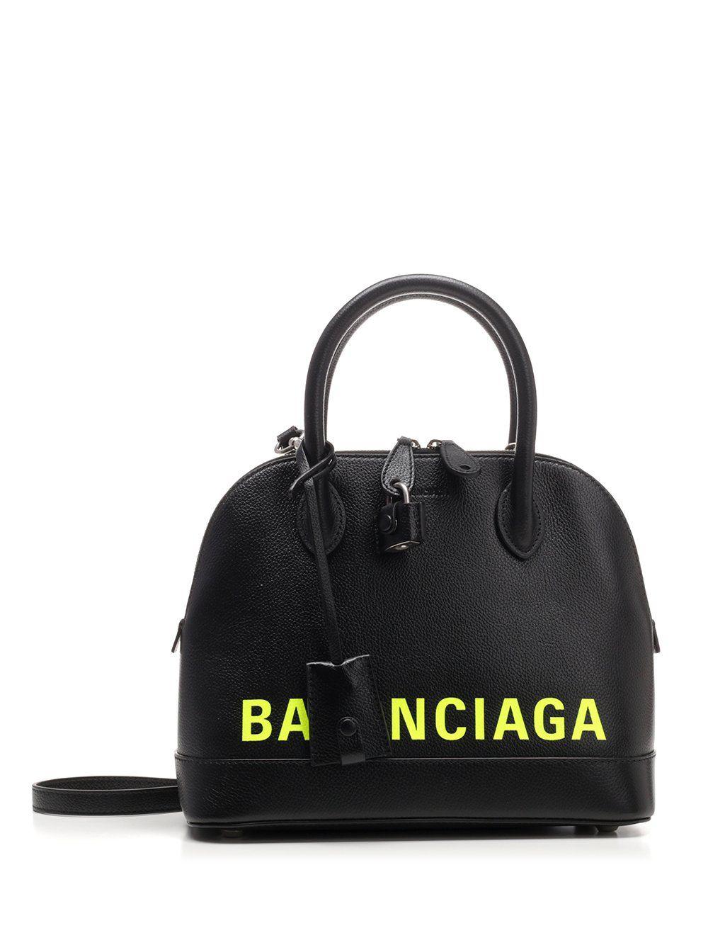 BALENCIAGA BALENCIAGA VILLE LOGO TOP HANDLE TOTE BAG bags