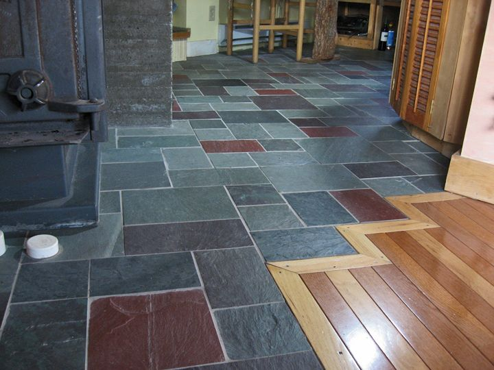 kslateb | floors | pinterest | slate flooring, slate floor kitchen