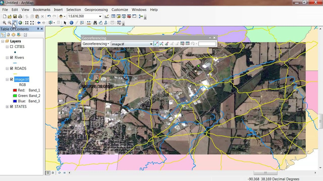 Georeferencing in ArcGIS 10.5