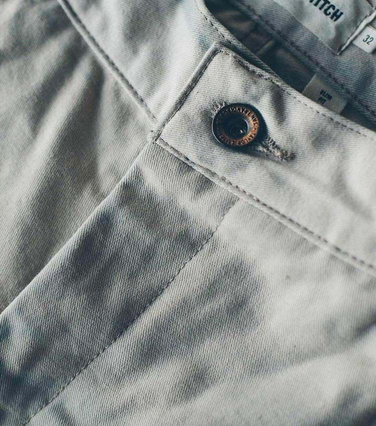 Slim chinos in a lightweight, versatile Stone color from Taylor Stitch are a perfect spring style move. Get on 'em now! #menswear