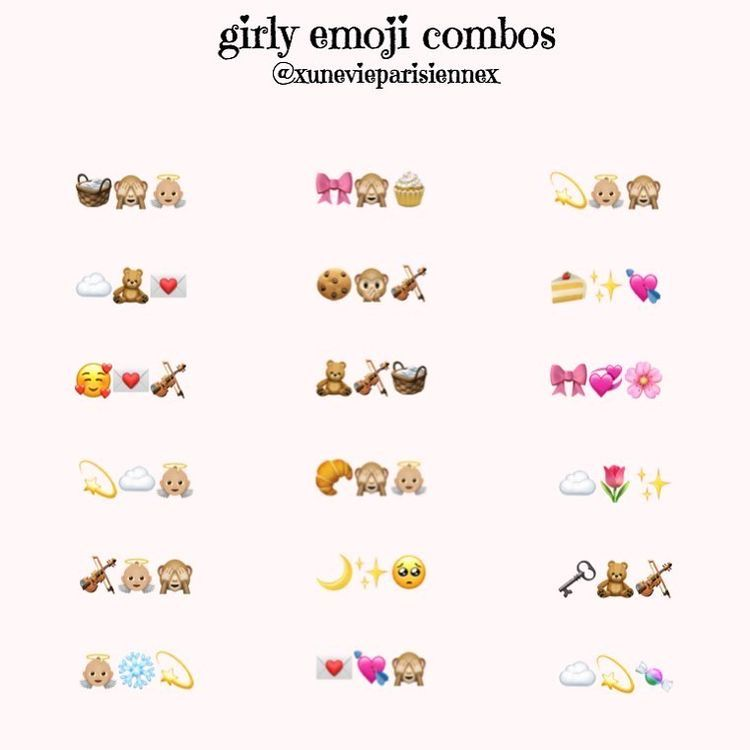 Aesthetic Emoji Combinations In 2020 Emoji Combinations Cute Emoji Combinations Instagram Emoji