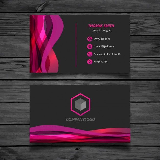 Ondulado rosa e carto preto business cards logos and business ondulado rosa e carto preto colourmoves