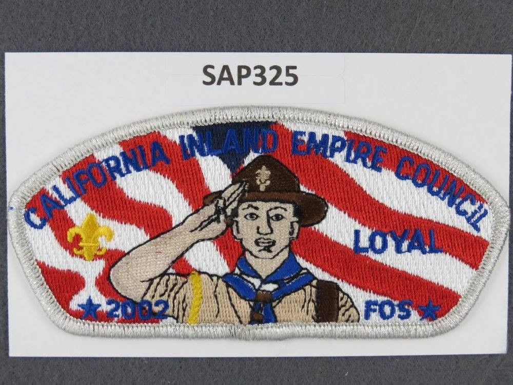 California Inland Empire Council CSP 2002 Loyal Friends of Scouting FOS SMY Border