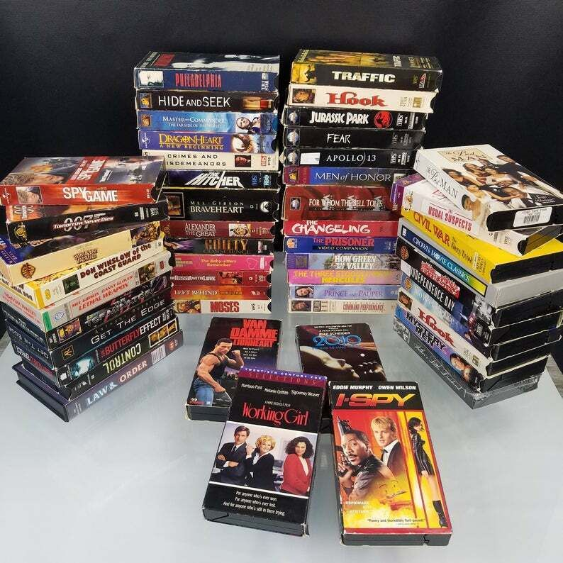 Vhs Movie Lot Of 22 Tapes Comedy Action Adventure Drama Family Cartoon Vhs Movie Comedy Drama
