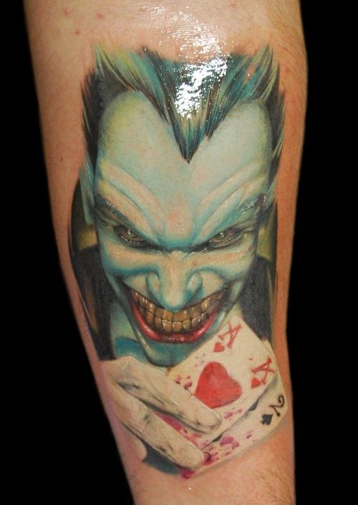 Joker tattoo love geek tattoos tattoos tattoos picture for Nerd tattoo designs