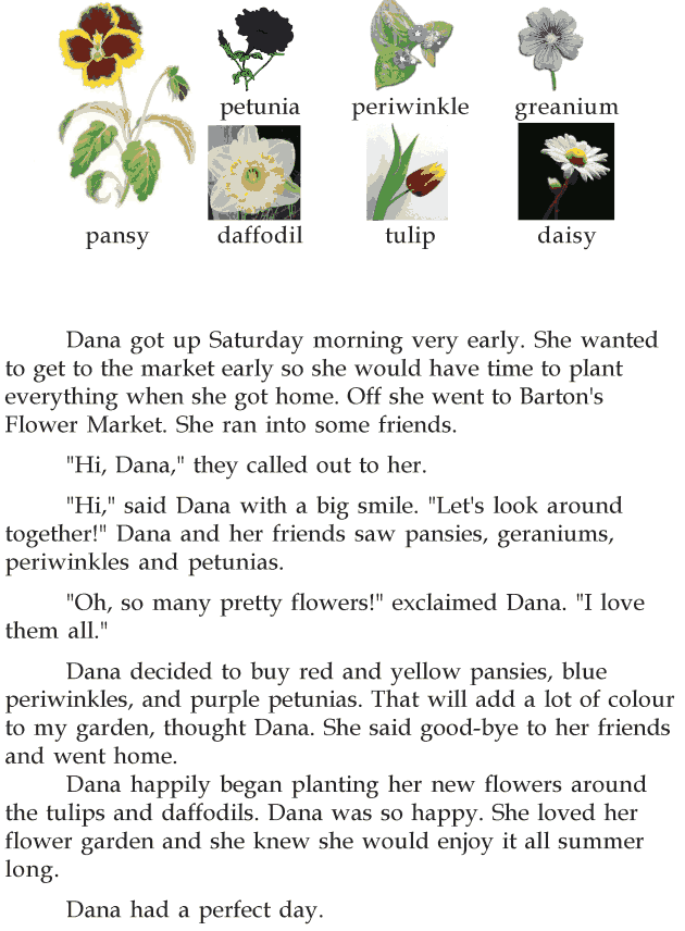 grade 2 reading lesson 21 short stories danas flower garden 1 grade 2 reading lessons grade. Black Bedroom Furniture Sets. Home Design Ideas