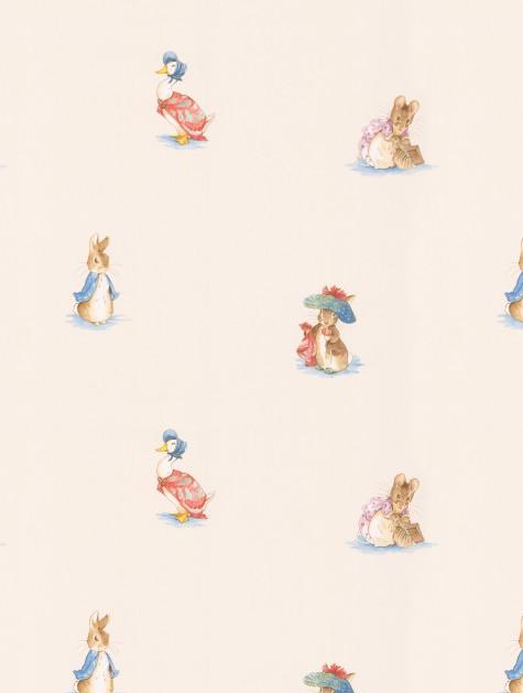 Vintage Pastel Color Blue Pink Boy Girl Ducks Baby Nursery Wall paper Border