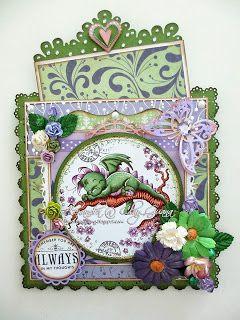 *ClayGuana: A Dreamy Dragon - Stitching on cards @ TPC