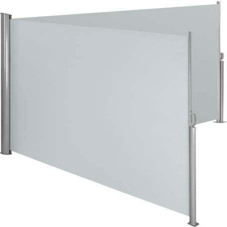Alu Doppel Seitenmarkise grau 200 x 600 cm Markise
