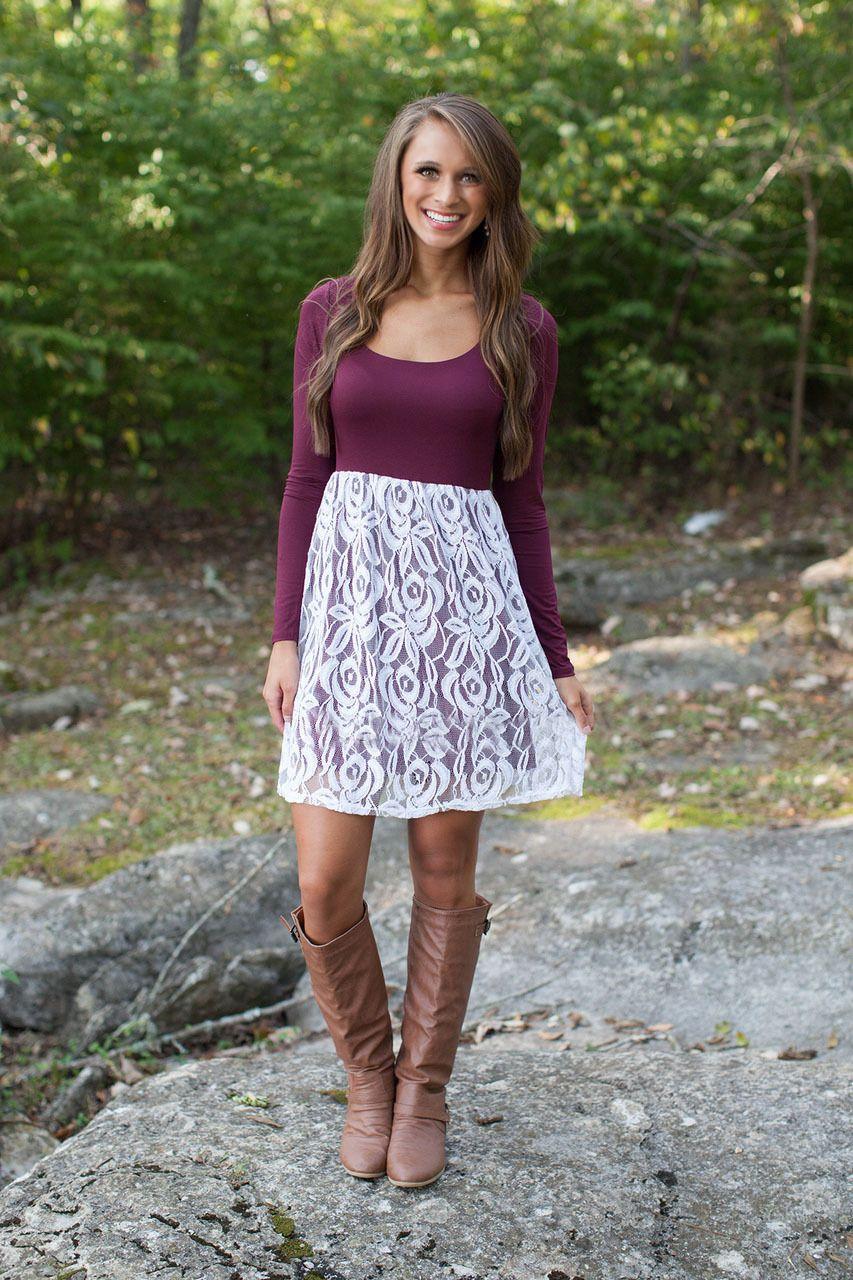 Slim lace floral spicing onecklong sleeve short dress dress