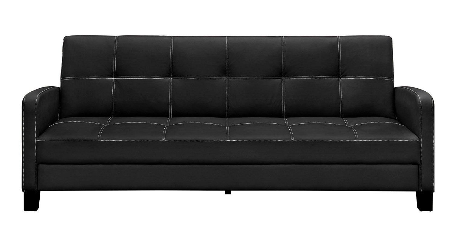 Outstanding Dhp Delaney Sofa Sleeper In Rich Faux Leather Machost Co Dining Chair Design Ideas Machostcouk