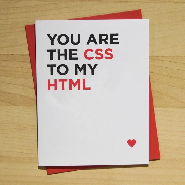 You are the CSS to my HTML <3 [Picture]
