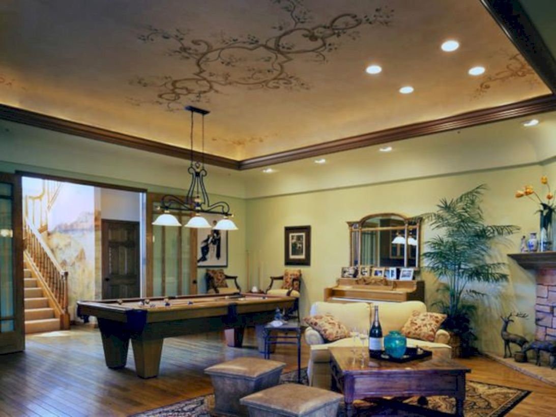 50 Relaxing Basement Rec Room Ideas For Living Area