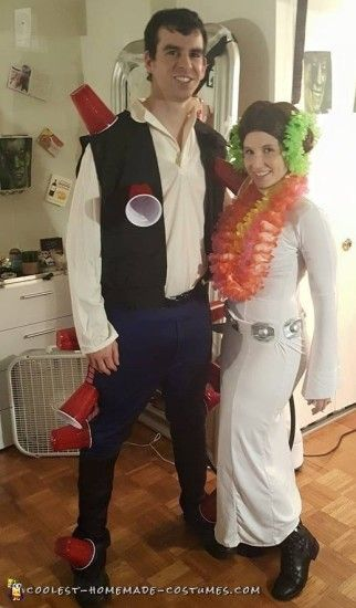 funny couple costume ideas  sc 1 st  Pinterest & Punniest Homemade Funny Couple Costume Ideas | Pinterest | Funny ...