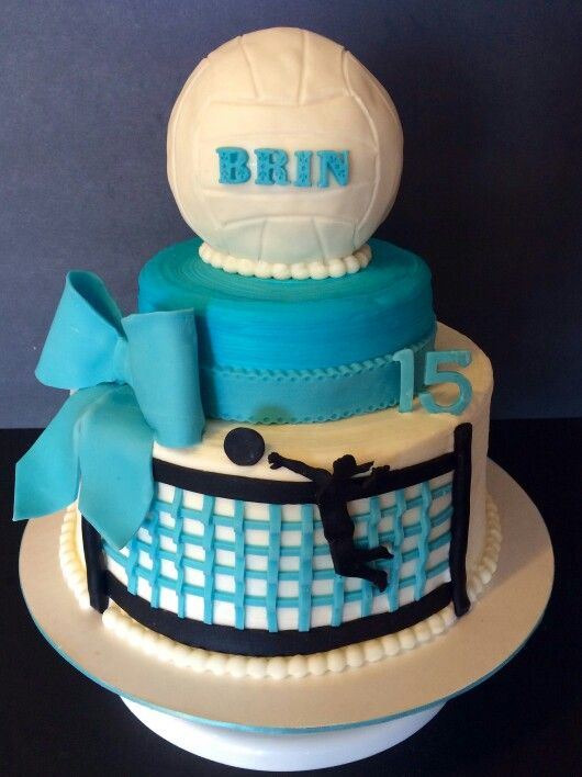 Surprising Brinlies Volleyball Cake Volleyball Cakes Volleyball Personalised Birthday Cards Beptaeletsinfo