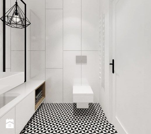 Aranżacje Wnętrz łazienka Projekt Nr 4 Mała łazienka W Bloku