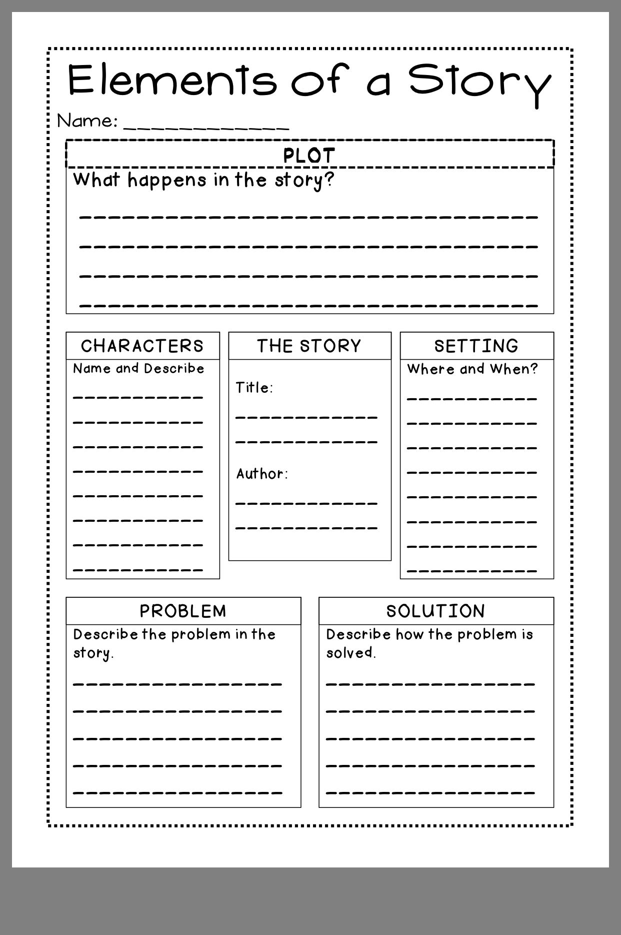 Pin By Joyce Flores On Writing Texhiques Story Elements Worksheet Story Elements Cursive Writing Practice Sheets
