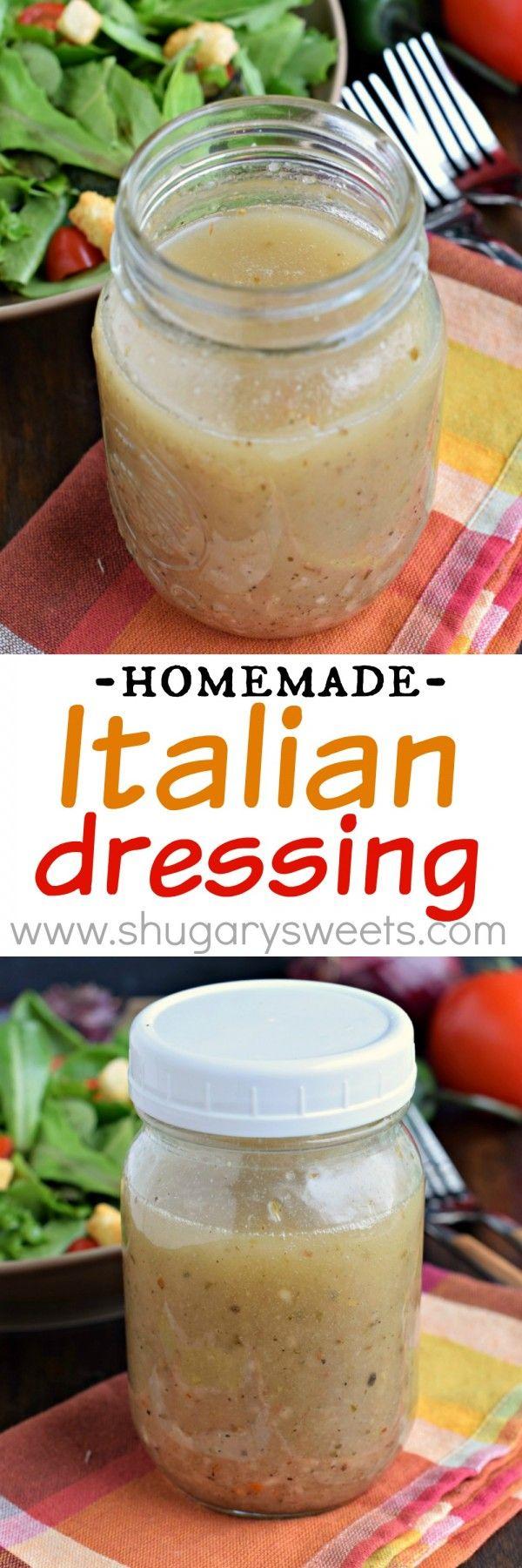 Homemade italian dressing recipe perfect on salads or use - Olive garden italian salad dressing recipe ...