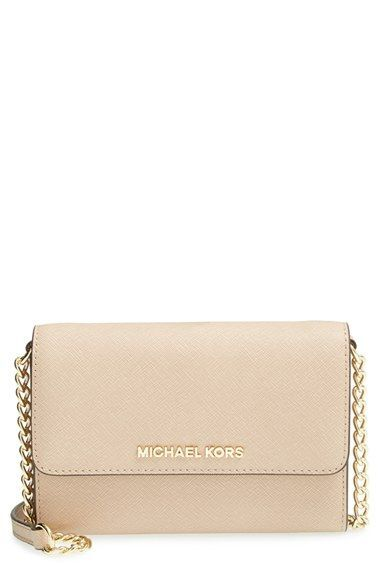 5ad3a628be0c MICHAEL Michael Kors 'Jet Set - Large Phone' Saffiano Leather Crossbody Bag  available at #Nordstrom
