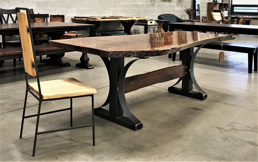 Solid Walnut Slab Table Rustic, Rustic Elements Furniture