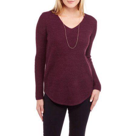 Faded Glory Shaker Rib Tunic, Women's, Size: XXL, Purple | Medium ...