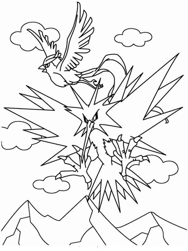 Pokemon Tegninger til Farvelægning 25