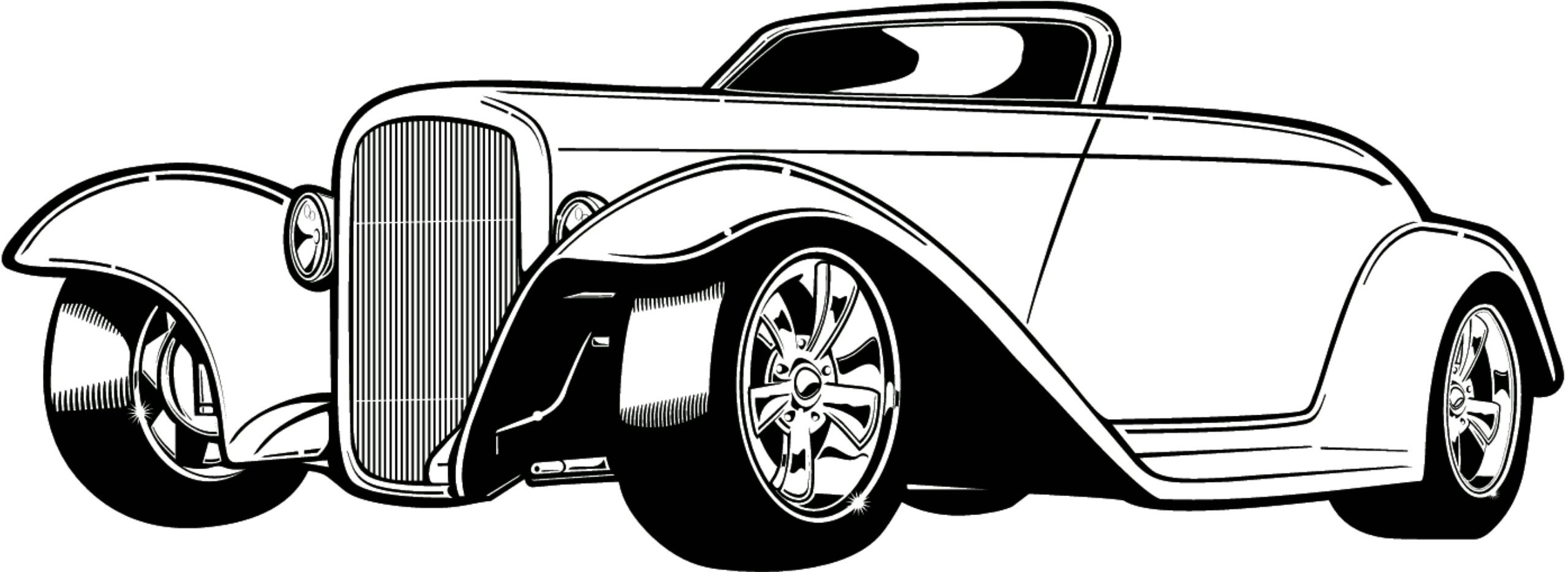 cars coloring pages adult coloring pages hot rod cars hot rods line [ 2558 x 934 Pixel ]