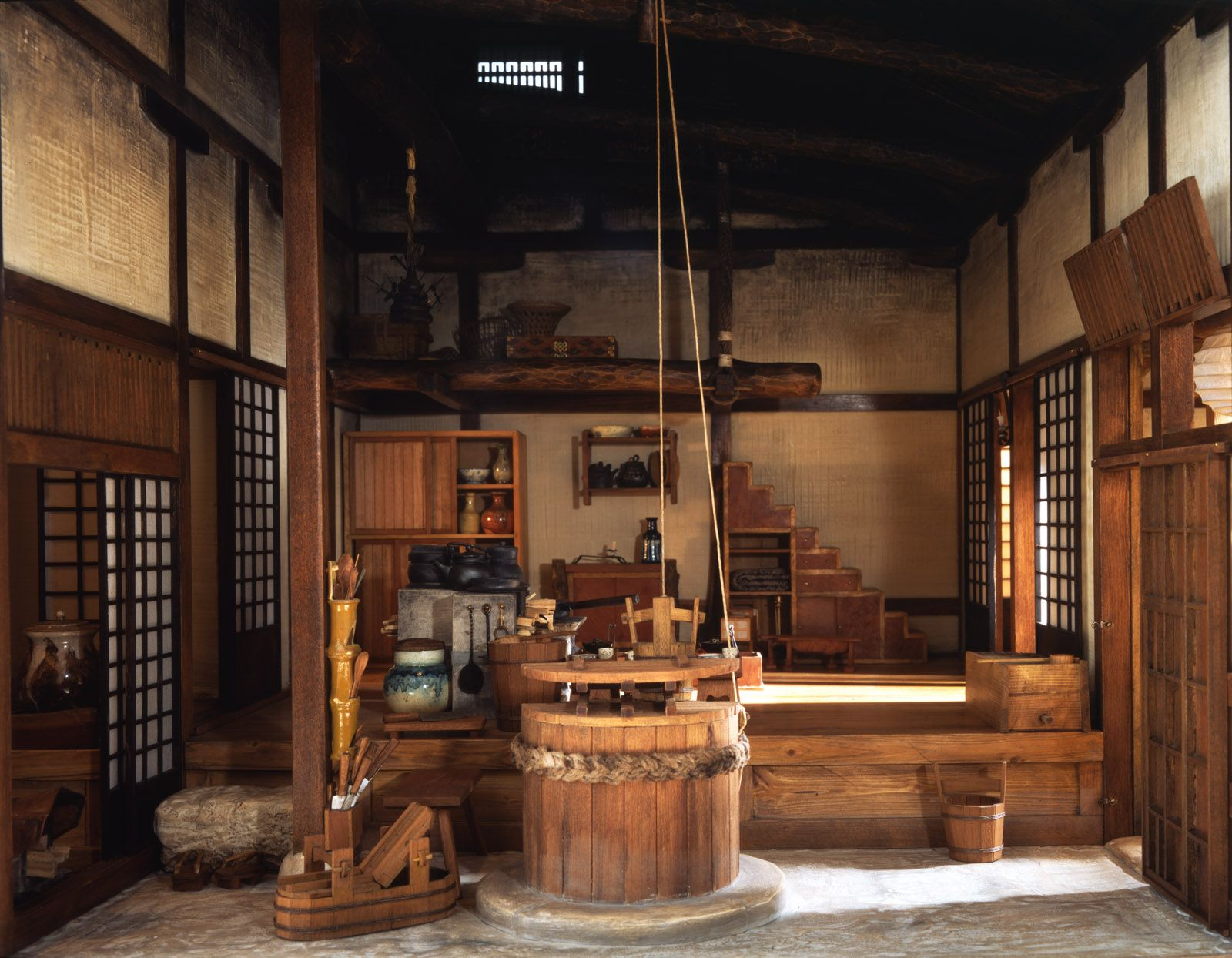 Japanese farm kitchen nice asian dollhouses pinterest for Japanese kitchen designs