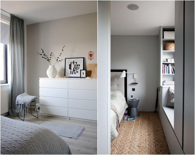 chambre grise d co et am nagement splendides en 82 id es id es pour la maison pinterest. Black Bedroom Furniture Sets. Home Design Ideas