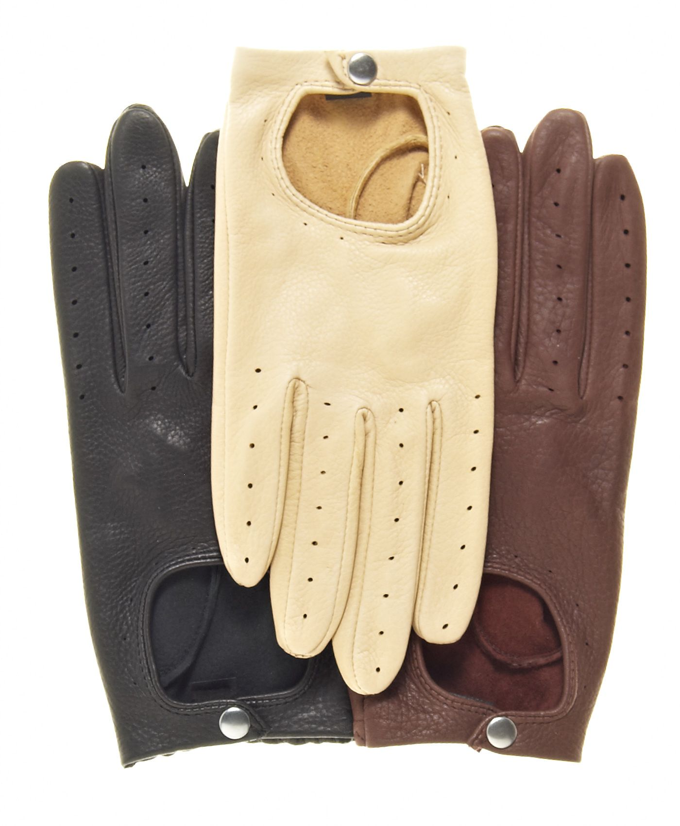 Fine North American deerskin combined with classic styling make these women's deerskin driving gloves as good looking as they are comfortable. A classic for a very good price. Imported.