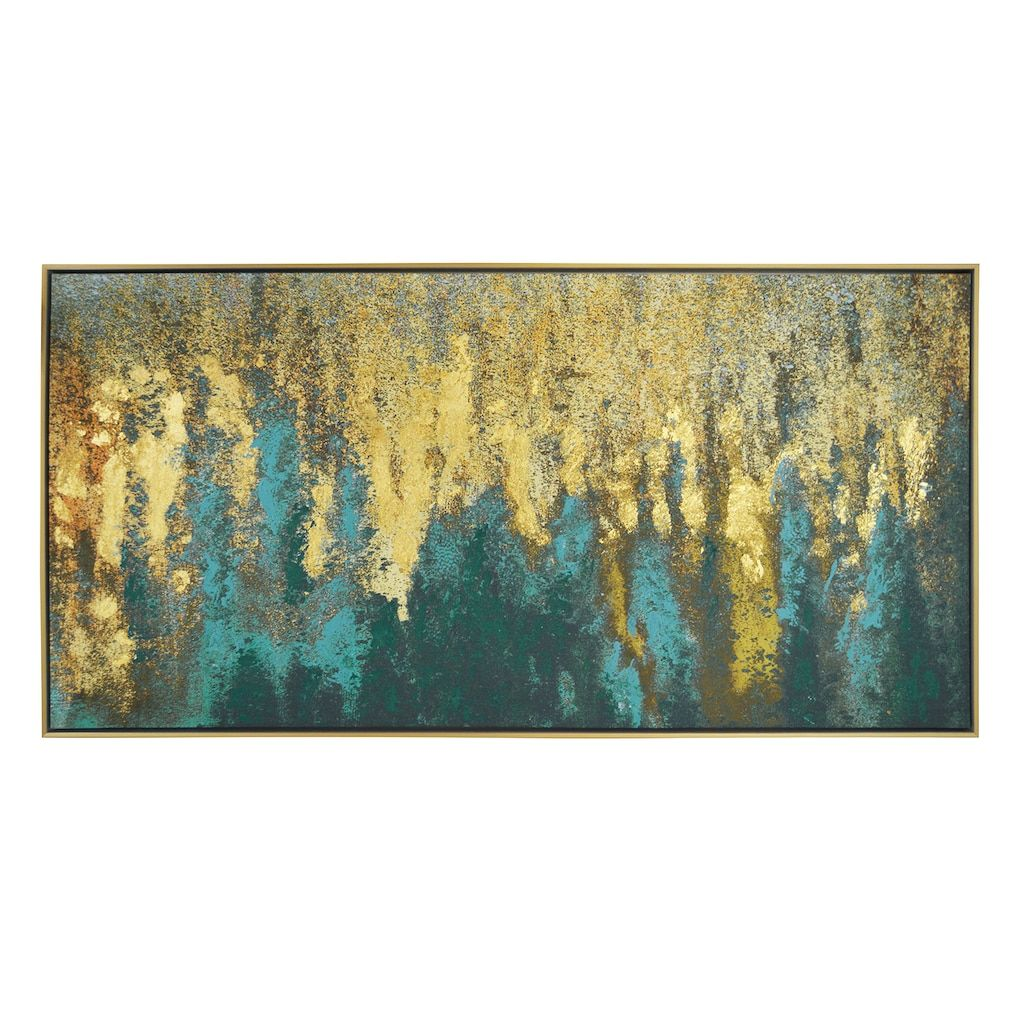 New view abstract metallic framed canvas wall art multicolor