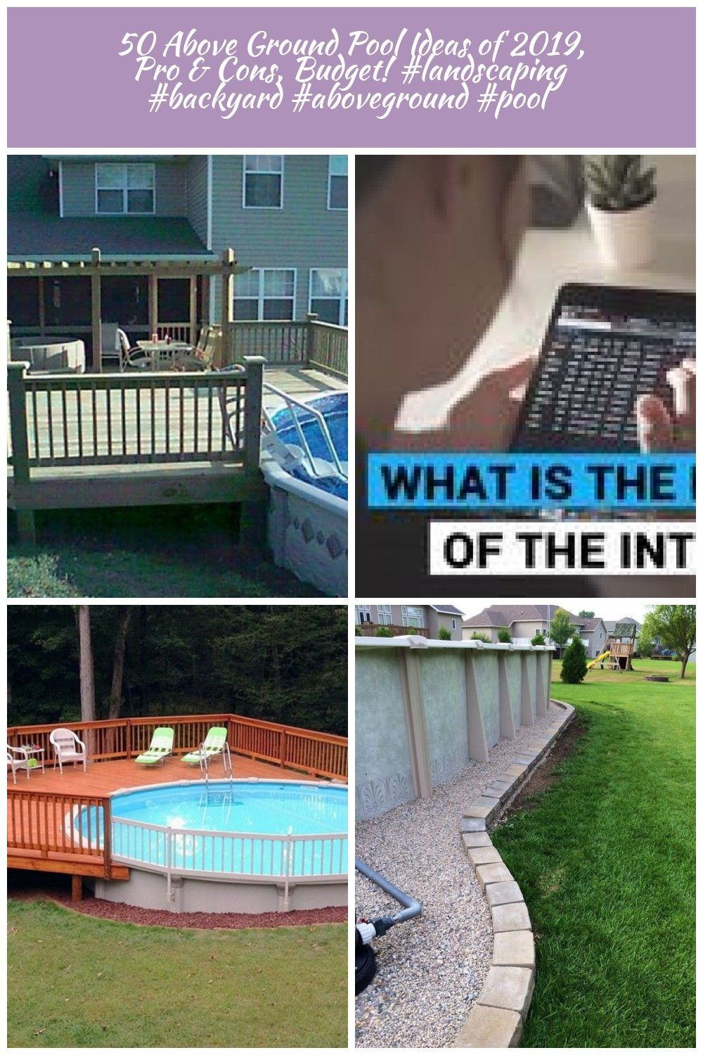 50 Above Ground Pool Ideas of 2019 Pro  Cons Budget pool Deck 50 Above Ground Pool Ideas of 2019 Pro  Cons Budget