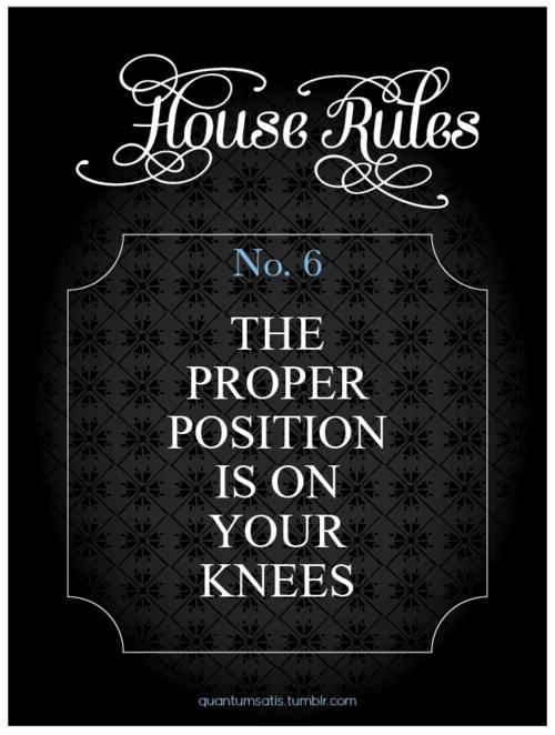 Femdom house rules
