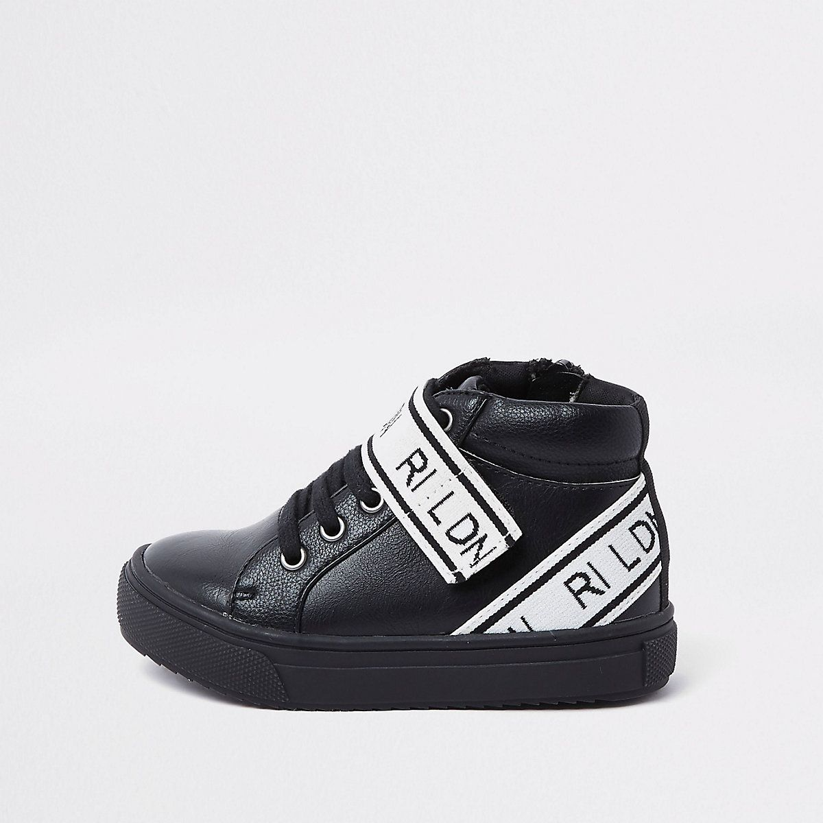 cozy fresh aliexpress store Mini boys black 'RI LDN' high top trainers in 2019 | boys ...