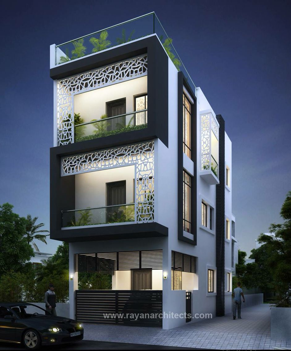 Narrow House Designs, Modern House Plans