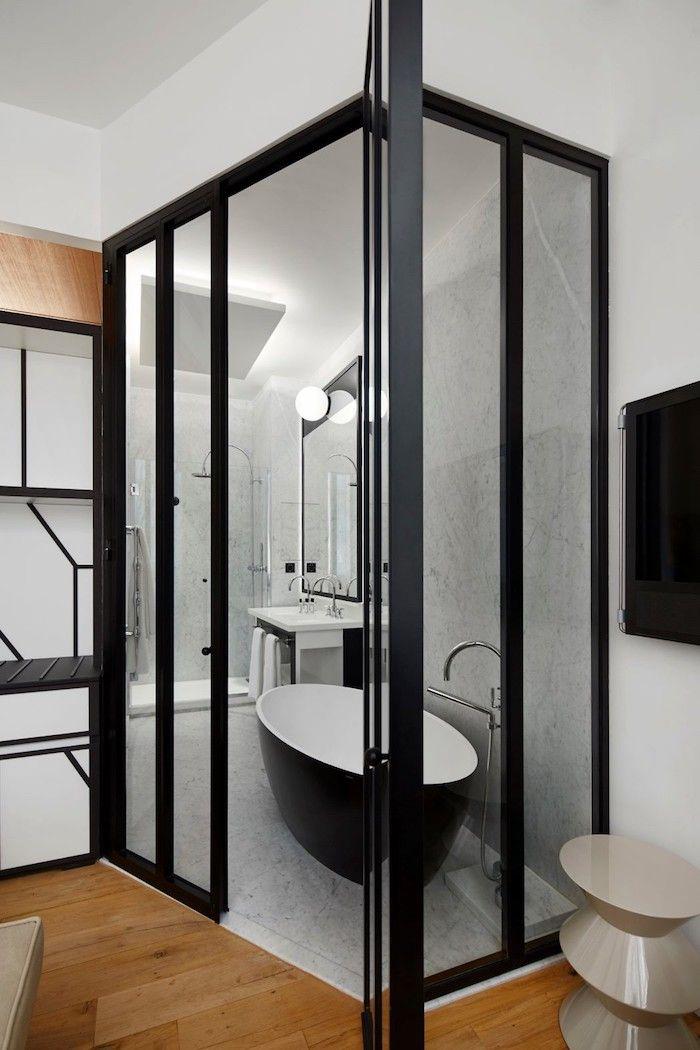 Appart parisien fusion de chambres de bonne int rieur - Location chambre de bonne paris 16 ...