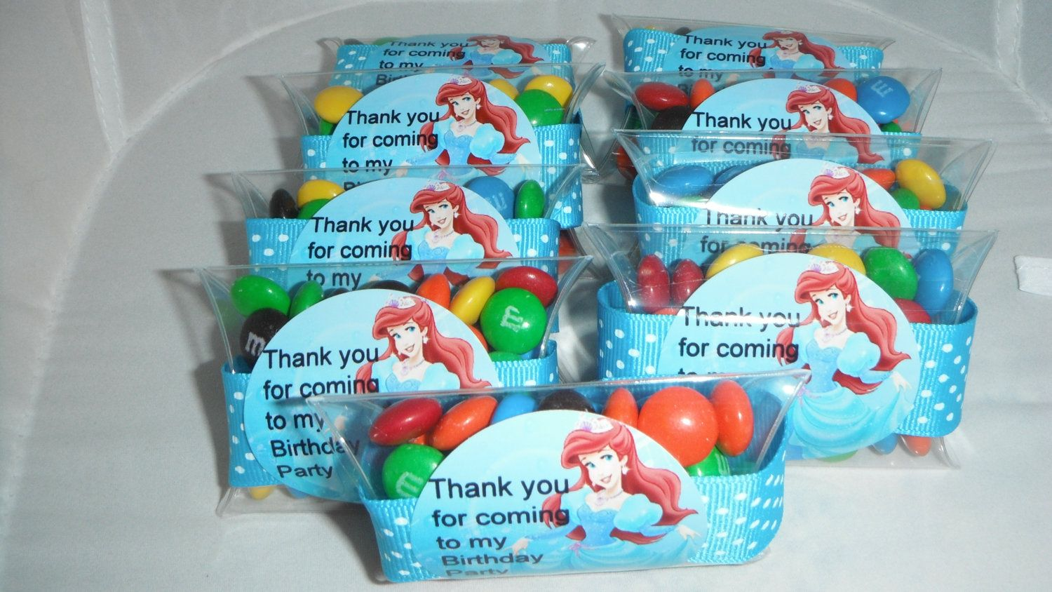ariel little mermaid birthday party favors via etsy