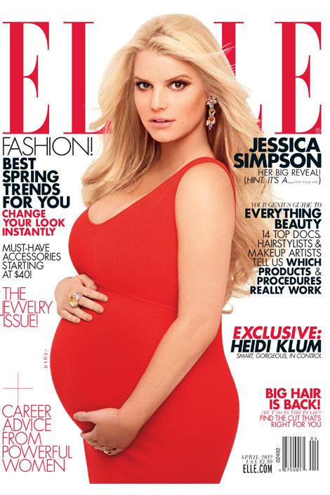 I think Jessica Simpson looks amazing pregnant. Would love this maternity picture (someday)!
