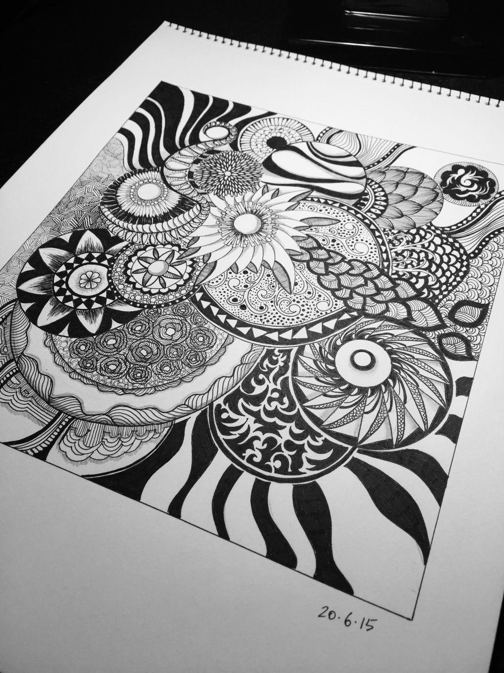 Circle spinning #zentangle #art #design #creative #drawing #illustration