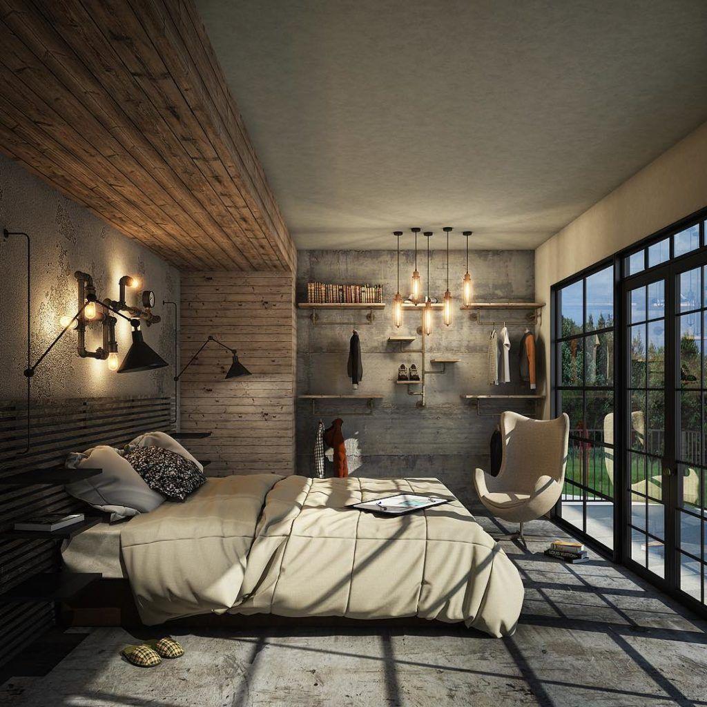 Beautiful Concrete Lover Bedroom Design | Luxury bedroom ...