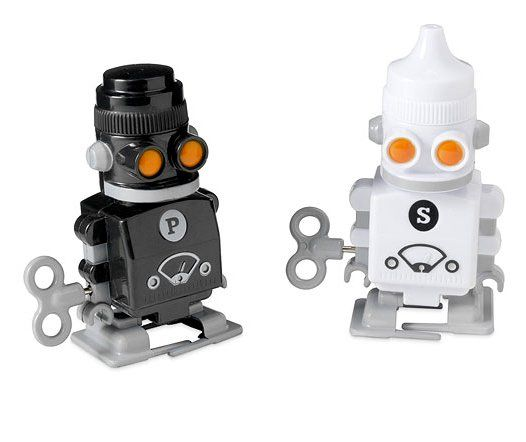 Pin for Later: 250+ Gifts For Every Kind of Geek! Wind-Up Salt and Pepper Robots Ah! Wind up these salt and pepper robots ($20), and they'll pass themselves to someone else at the table.