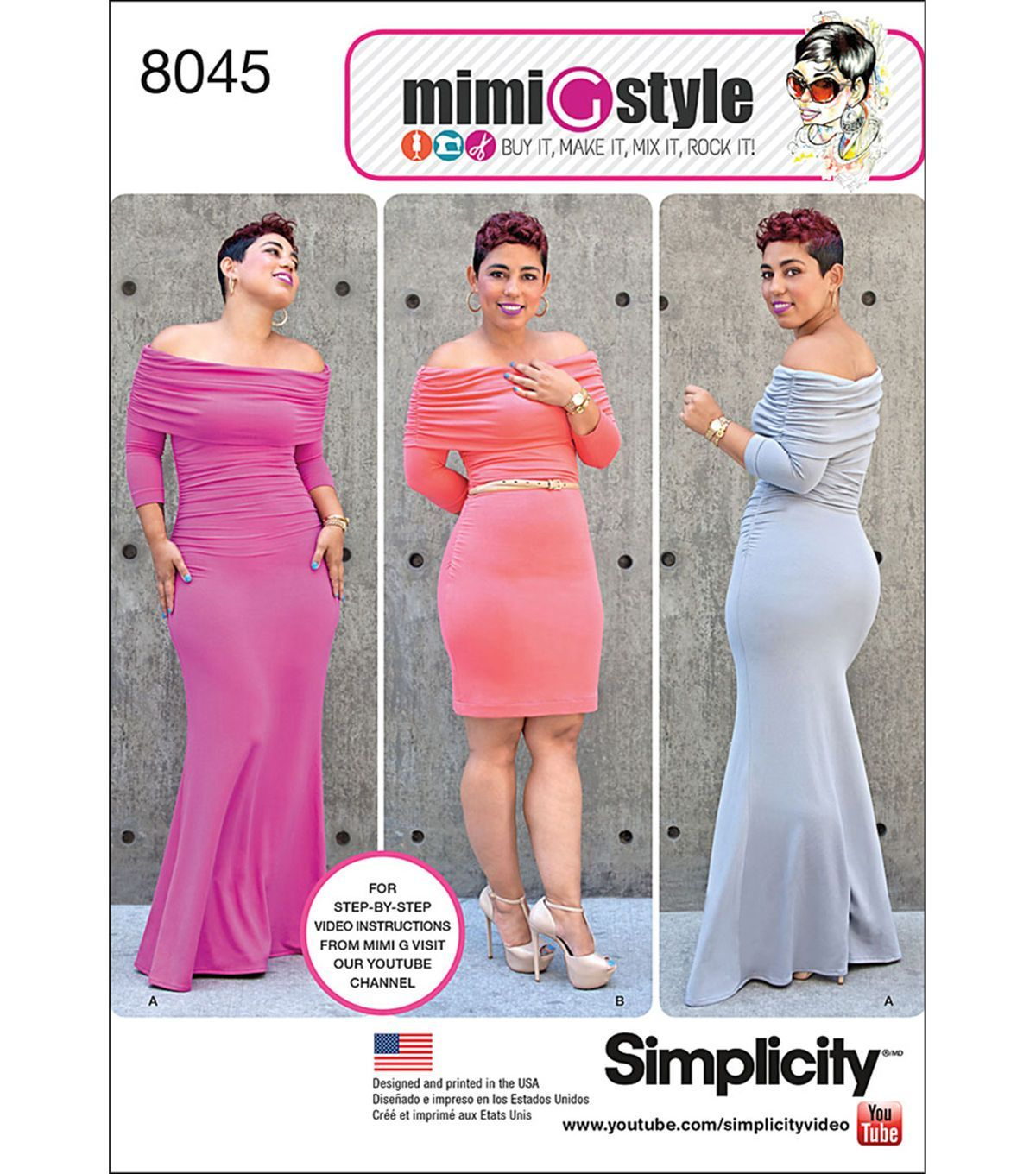 Simplicity Miss And Plus Size Knit Dress From Mimi G Style - 20W ...