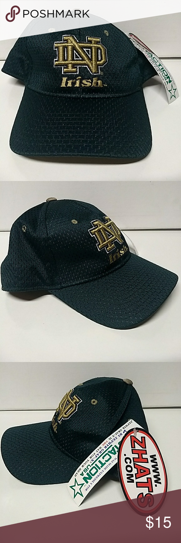 bd3dd185716 Vintage Notre Dame Fighting Irish 7 1 4 Fitted Hat Vintage Notre Dame  Zephyr Hat
