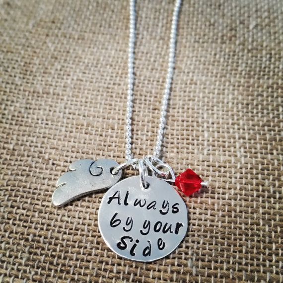 Hand Stamped  Always By Your Side  Guardian by HippieSwankBoutique, $28.00
