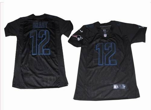a07dcb419 Nike New England Patriots 12  Tom Brady black elite jerseys   22.5 ...