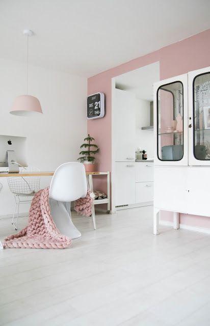Magnifiek missjettle - oud roze op de muur | Interior - Livingroom in 2018 #DG07