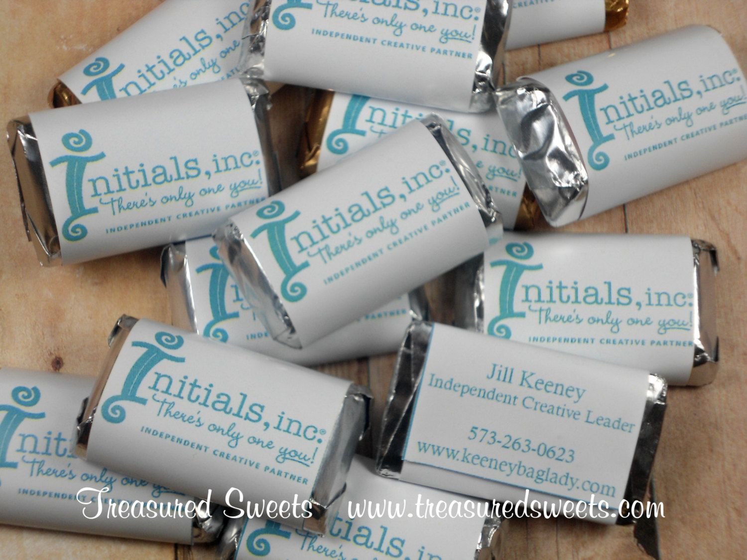 100 Mini Edible Business Cards, Promotional Custom Candy Bar ...