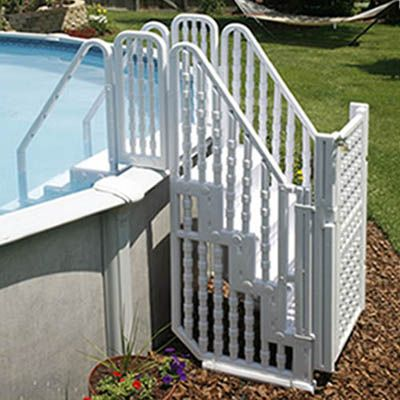 Want it!! Pool Ladder | Bridge Above Ground Pool Ladder ...