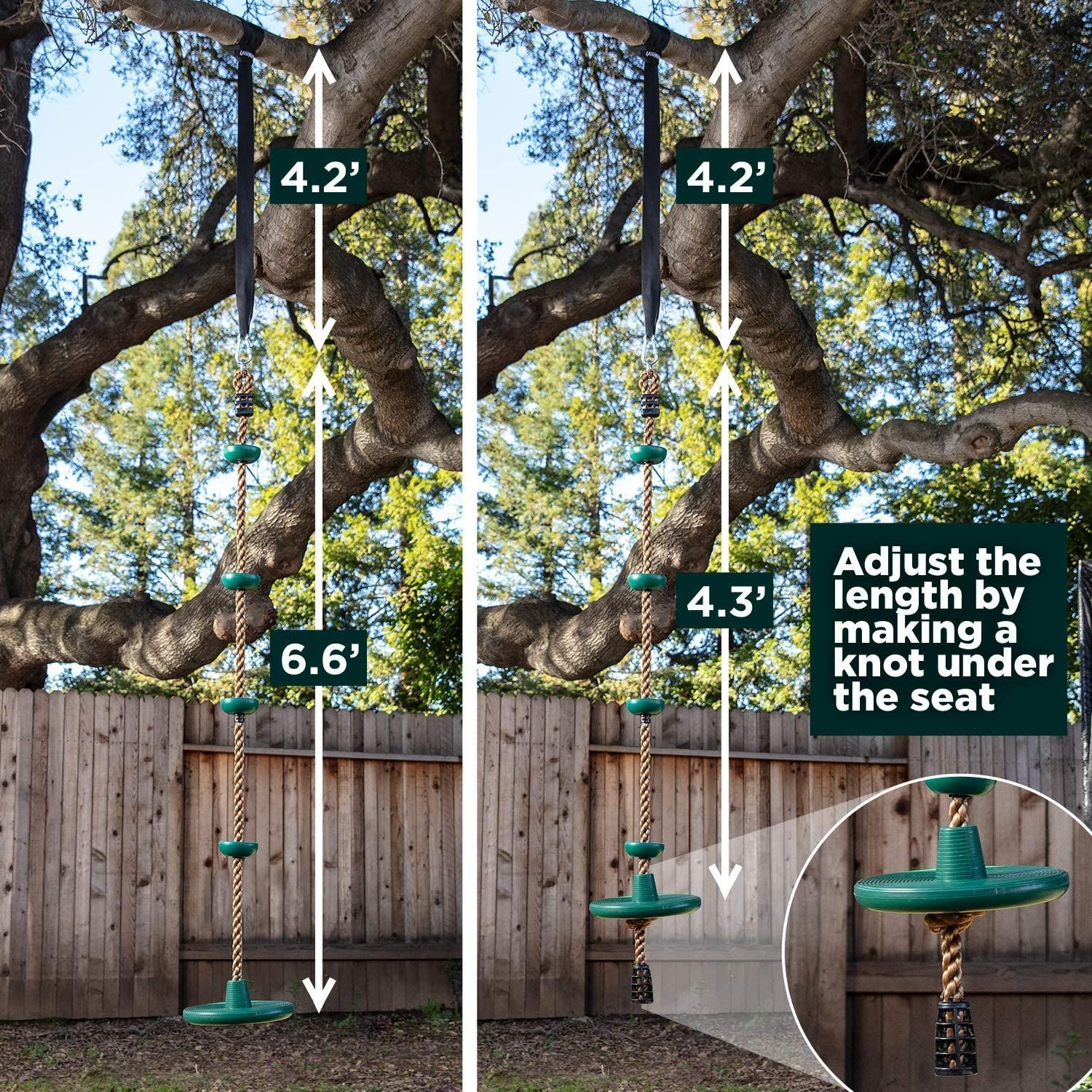 Price 43 49 Best Climbing Rope Tree Swing With Platforms And Disc Swings Seat In 2020 Tree House Kids Tree Swing Tree Straps